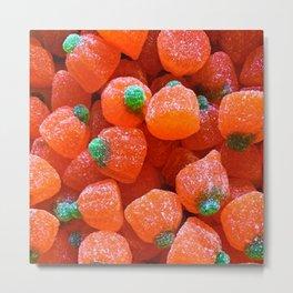 Pumpkin Candy Metal Print