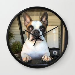 French Bull  Dog  Puppies Wall Clock