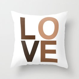 Love your skin Throw Pillow