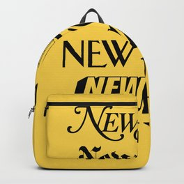 New York City Yellow Taxi and Black Typography Poster NYC Backpack