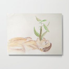 Verschlungene Pflanze Metal Print