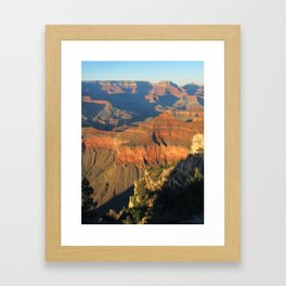 SUNSET AT THE CANYON Framed Art Print