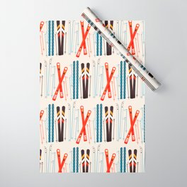 Retro Ski Illustration Wrapping Paper