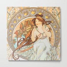 Alphonse Mucha (Alfons Mucha) abst-59 Metal Print