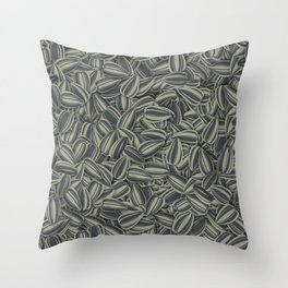 Pipas Mania (Spanish for sunflower seeds) Throw Pillow
