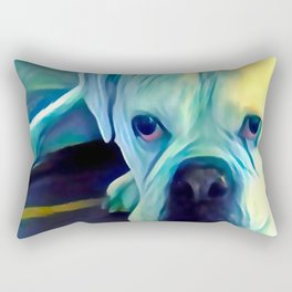 BOXER from our POP YOUR POOCH line Rectangular Pillow
