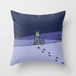 Three Dog Night Throw Pillow
