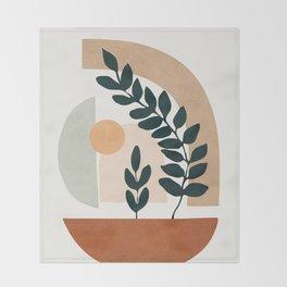 Soft Shapes III Throw Blanket