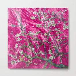 Vincent van Gogh Blossoming Almond Tree (Almond Blossoms) Pink Sunset Metal Print