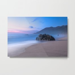 Ocean Tides - Mist Rolls in At Sunset in Big Sur Metal Print