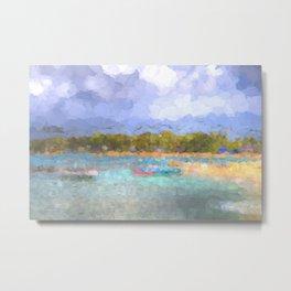 Barbados Beach Abstract Art Metal Print