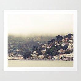Sausalito Fog Art Print