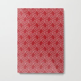 Dotted Scallop in Red Metal Print
