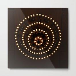 Circles of Light Metal Print