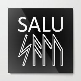 Salu - Runes Sacred Healing Word  Metal Print