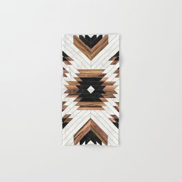 Urban Tribal Pattern No.5 - Aztec - Concrete and Wood Hand & Bath Towel