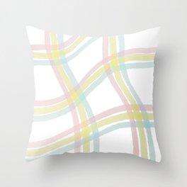 Pastel Plaid Pattern Throw Pillow