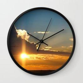 Nostalgic sunset over the Kalahari desert - Landscape Photography #Society6 Wall Clock