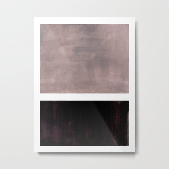Mid Century Modern Minimalist Art Colorblock Rothko Inspired Squares Grey and Black Simple Abstract by enshape