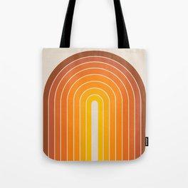 Gradient Arch - Vintage Orange Tote Bag