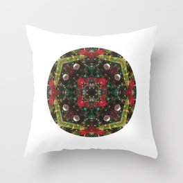 Photo Mandala - Merry Christmas Throw Pillow