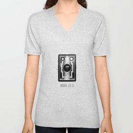 Vintage Art Deco Camera Unisex V-Neck