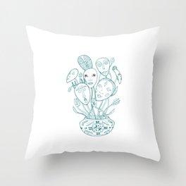Bouquet of masks Throw Pillow