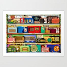 The Golden Age of Radio Art Print