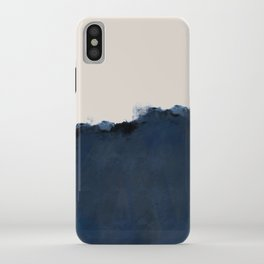 Abstract, blue, beige, indigo iPhone Case