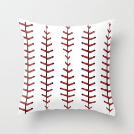 Baseball Laces Background Throw Pillow