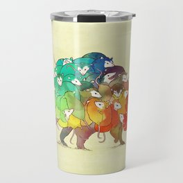 Opossum Rainbow Babies Travel Mug