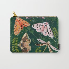 Moths and dragonfly Carry-All Pouch