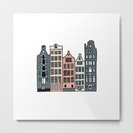 Amsterdam Waterfront Buildings Metal Print