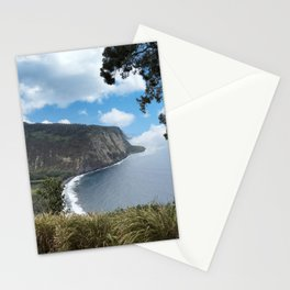 Look out view of Waipio Valley in Hawaii Stationery Cards