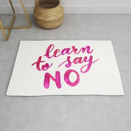 Learn to say no - pink Rug