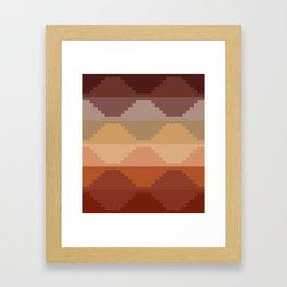 Geometric Aztec II Framed Art Print
