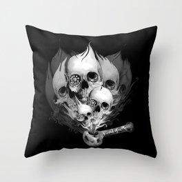 Faded Youth, smoke skulls Throw Pillow