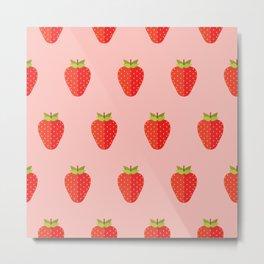 Strawbery party Metal Print