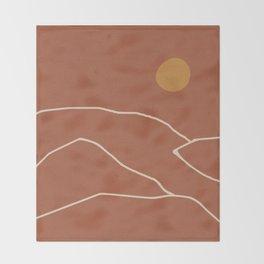 Minimal Abstract Art Landscape 2 Throw Blanket