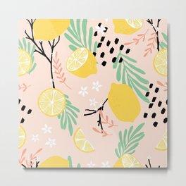 Lemon pattern 03 Metal Print