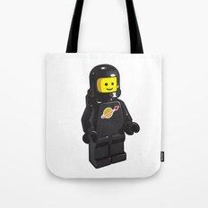 Vintage Black Spaceman Minifig Tote Bag