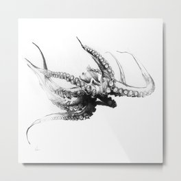 Octopus Rubescens Metal Print
