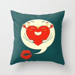 say u love me Throw Pillow