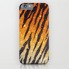 Tiger Shout Glitter Stripe iPhone Case
