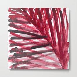watercolor lines palm leaf 6 Metal Print
