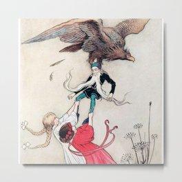 Compassionate Children Illustration Metal Print