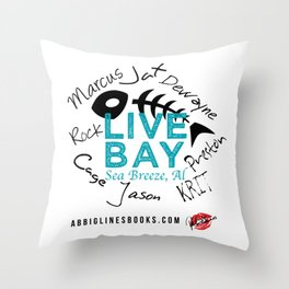 Live Bay Sea Breeze, AL Throw Pillow