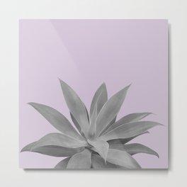Lavender Gray Agave Vibes #1 #tropical #decor #art #society6 Metal Print