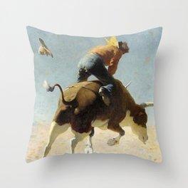 "William Leigh Western Art ""A Wild Texas Steer"" Throw Pillow"