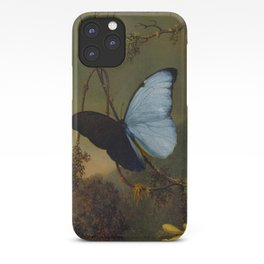Blue Morpho Butterfly 1865 By Martin Johnson Heade | Reproduction iPhone Case